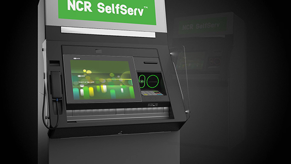 ATM company in NJ may choose NCR SelfServ machines like one pictured on dark grey background